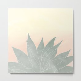 sunrise agave plant Metal Print
