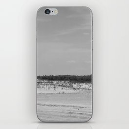 Assateague Island panoramic (black and white) iPhone Skin