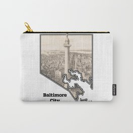 Washington Monument, Baltimore MD Carry-All Pouch