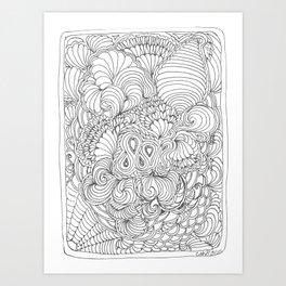 Tangling & Doodling #02 Art Print