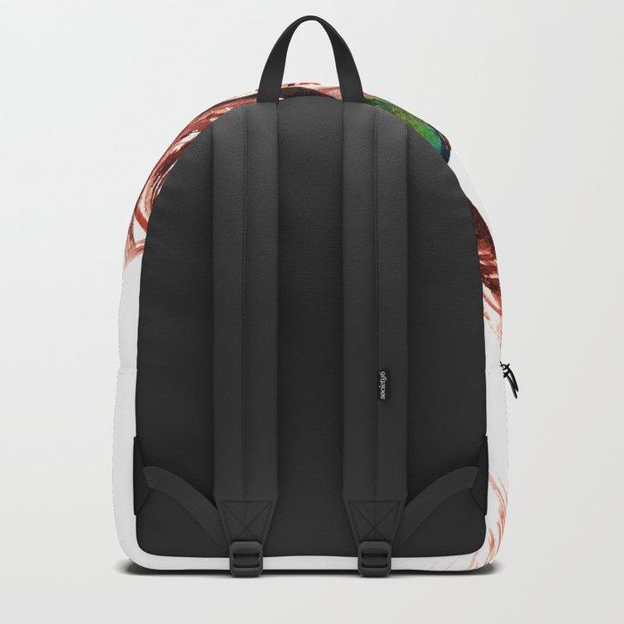 Attitude -watercolor portrait Backpack