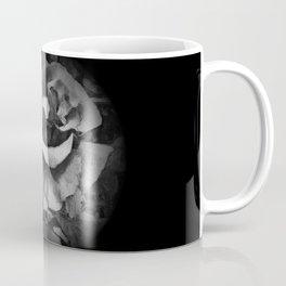 Black Rose - Painting Style - Black and White - Art Gift Coffee Mug