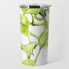 Devils Ivy Illustration Travel Mug