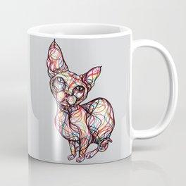 sweet cat line style - gatto dolce - chat doux - gato dulce Coffee Mug