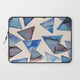 Triangle pattern watercolor painting Laptop Sleeve