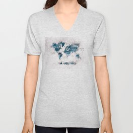 world map 13 #worldmap #map #world Unisex V-Neck