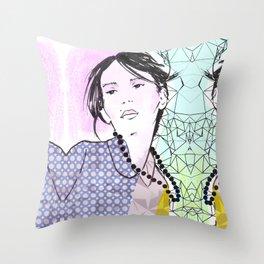 Fashion Model Throw Pillow