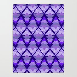 Geometric Forest on Purple Poster