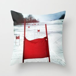 Racing Gates Throw Pillow