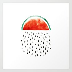 watermelon rain Art Print