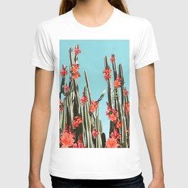 Cacti Orange coral flowers T-shirt