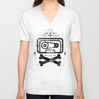 tape V-neck T-shirts featuring Pirate Tape by melted