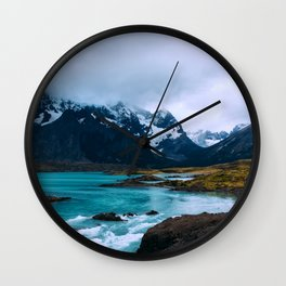 River Mountains Wall Clock