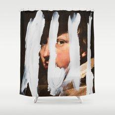 Untitled (Finger Paint 2) Shower Curtain