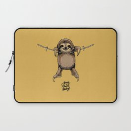 Hang in There Baby Sloth Laptop Sleeve