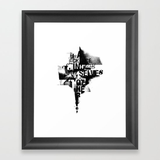 Each Other. Framed Art Print