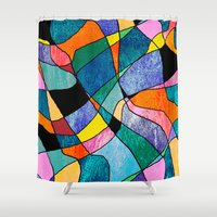 plaid Shower Curtains featuring Pretty Plaid by Kay Weber
