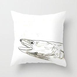 Fish Face 3 Throw Pillow