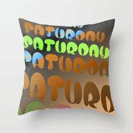 sage days - saturday Throw Pillow