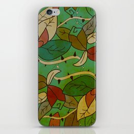 Floral, blood and thorn pattern iPhone Skin
