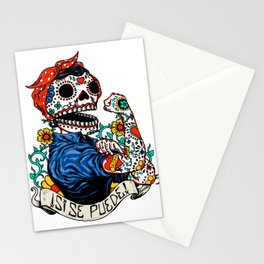 We Can Do It Skull Stationery Cards