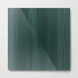 Forest Green Wash Metal Print