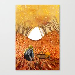 October mushrooms Canvas Print