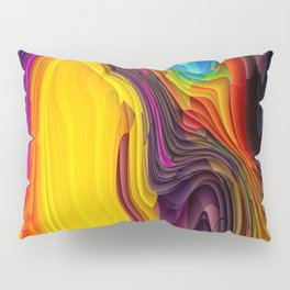 Melting Pot of Colors Abstract Pillow Sham