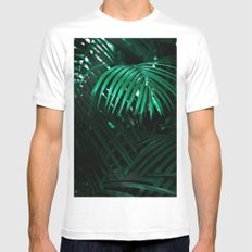 Tropical plant MEDIUM White Mens Fitted Tee