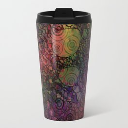 """All You Can Do"" Colorful Digital Abstract Travel Mug"