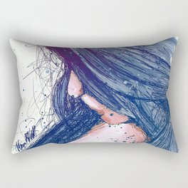 Prayers For Rain: Blue Rectangular Pillow
