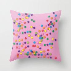 Donut Sprinkles Throw Pillow