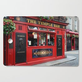 Red Temple Bar pub in Dublin Cutting Board