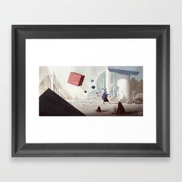The strange piper Framed Art Print
