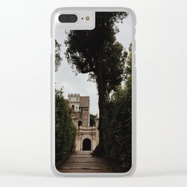 Castle in the hills Clear iPhone Case