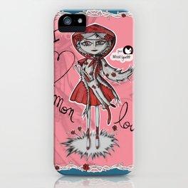 """I love mon loup"" iPhone Case"
