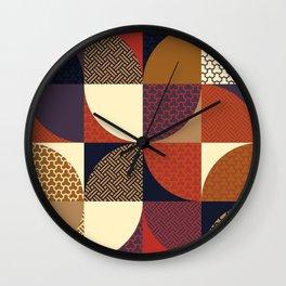 Japanese Patterns 04v Wall Clock
