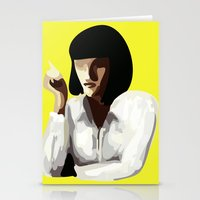 mia wallace Stationery Cards featuring Mia Wallace by Clotilde Petit