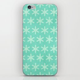 Asterisk Small - Turquoise iPhone Skin