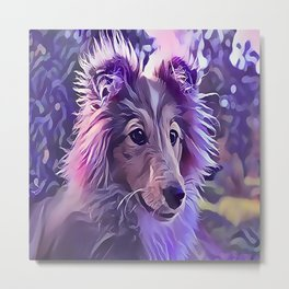 Shetland Sheepdog Puppy Metal Print