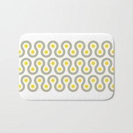 Geometric Pattern #75 (gray yellow wave) Bath Mat