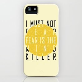 Dune - The Litany Against Fear (BLK) iPhone Case