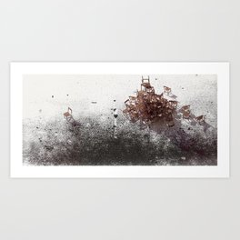 over the hill Art Print