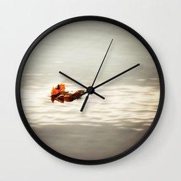 lone leaf... Wall Clock