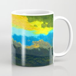 Frederic Edwin Church Sunset Across the Hudson Valley Coffee Mug