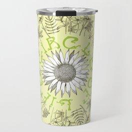 Circle Of Life Mandala With Hand Drawn Flowers Travel Mug