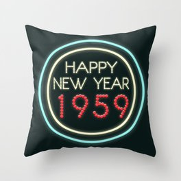 Happy New Year 1959! Throw Pillow