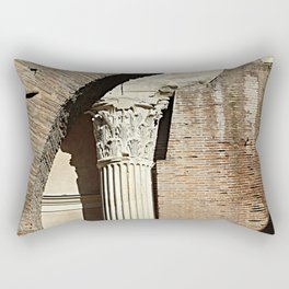 Roman Column Porticus Octaviae Monument Rome Italy Rectangular Pillow
