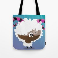 aries Tote Bags featuring Aries by Maria Jose Da Luz