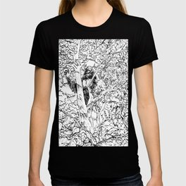 Sasquatch picking apples T-shirt